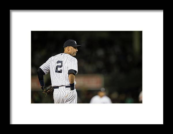 People Framed Print featuring the photograph Baltimore Orioles V New York Yankees 14 by Rob Tringali