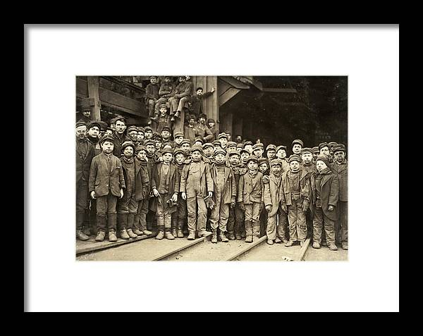 1911 Framed Print featuring the photograph Hine Child Labor, 1911 by Granger