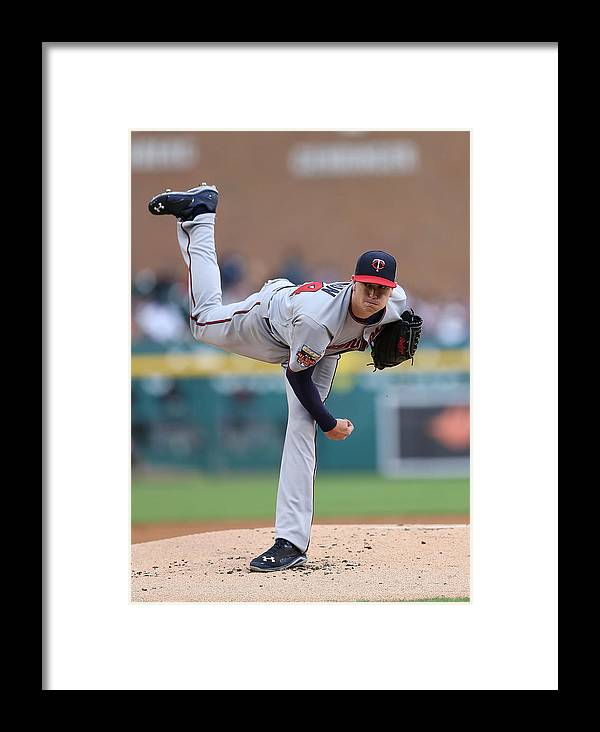 American League Baseball Framed Print featuring the photograph Minnesota Twins V Detroit Tigers 14 by Leon Halip