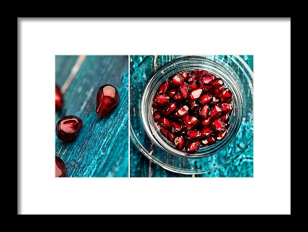Pomegranate Framed Print featuring the photograph Pomegranate 14 by Nailia Schwarz
