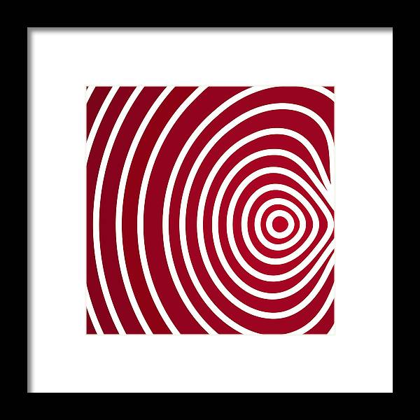 Red Abstract Art Framed Print featuring the painting Red Abstract by Frank Tschakert