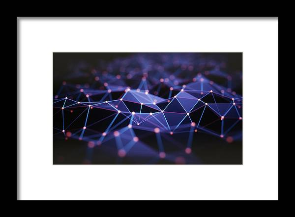 Artwork Framed Print featuring the photograph Connecting Lines 15 by Ktsdesign/science Photo Library