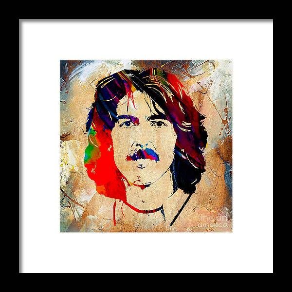 George Harrison Art Framed Print featuring the mixed media George Harrison Collection by Marvin Blaine