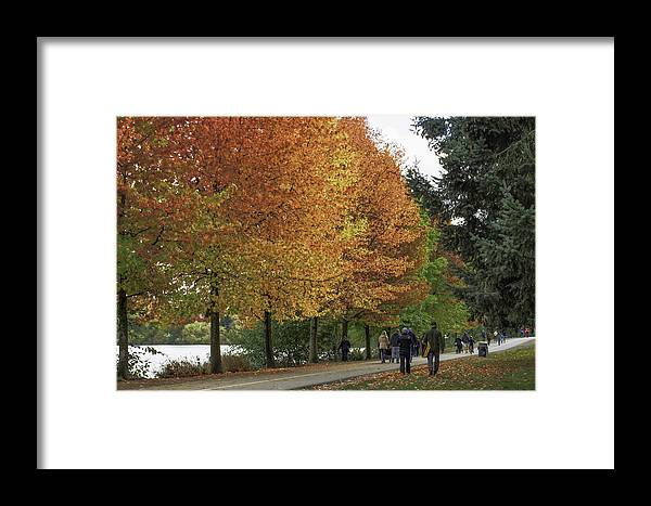 Seattle Framed Print featuring the photograph Greenlake by Gary Marine