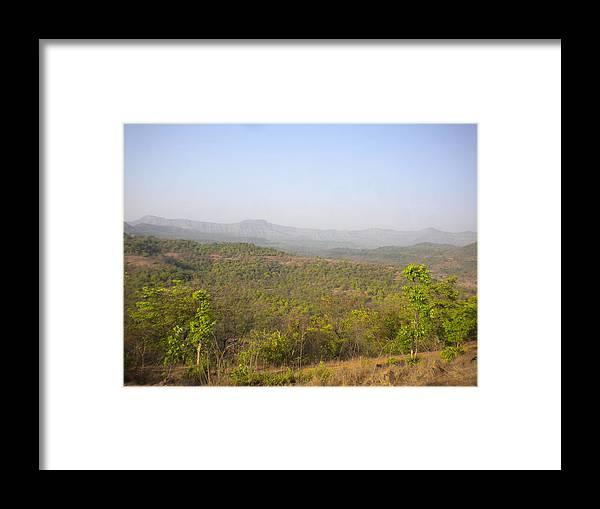 Landscape Framed Print featuring the digital art La Cashew by Shishir Simon