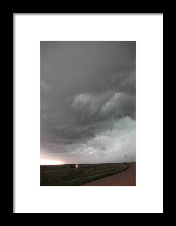 Stormscape Framed Print featuring the photograph Nebraska Panhandle Supercells by NebraskaSC