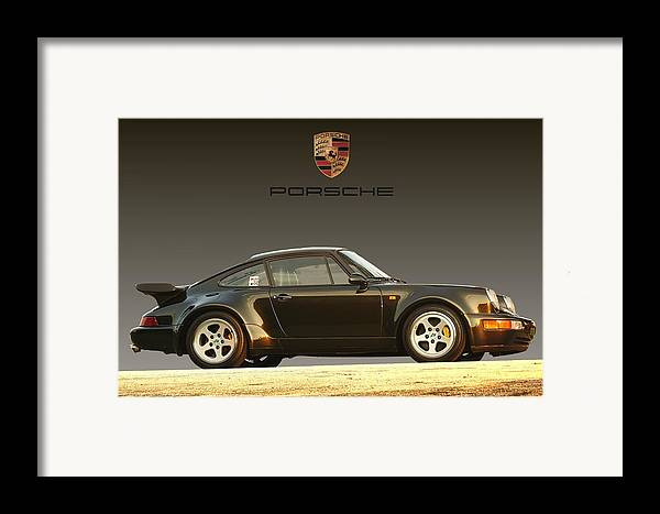 Porsche Framed Print featuring the digital art Porsche 911 3.2 Carrera 964 Turbo by Ganesh Krishnan