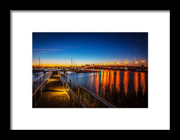 Bridge Of Lions Framed Print featuring the photograph Bridge Of Lions St Augustine Florida Painted by Rich Franco