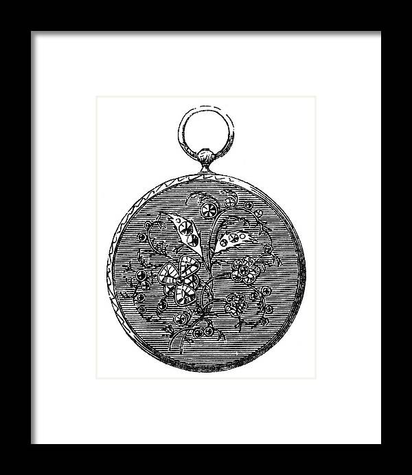 19th Century Framed Print featuring the painting Pocket Watch, 19th Century by Granger