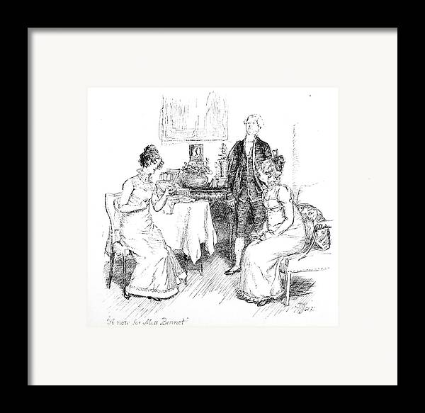 Scene From Pride And Prejudice By Jane Austen Framed Print