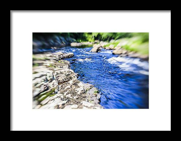 Photoshop.water Framed Print featuring the photograph The Stream In Mountain by Alex Potemkin