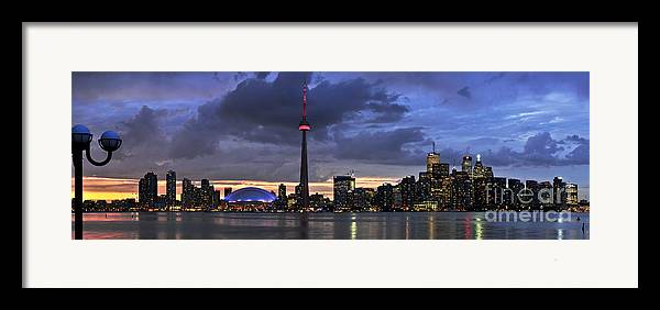 Toronto Framed Print featuring the photograph Toronto Skyline by Elena Elisseeva