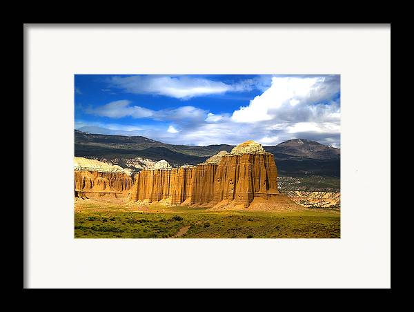 Capitol Reef National Framed Print featuring the photograph Capitol Reef National Park Cathedral Valley by Mark Smith