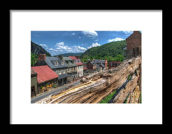 Harpers Ferry Framed Print featuring the photograph Hdr - Harpers Ferry by Dem Wolfe