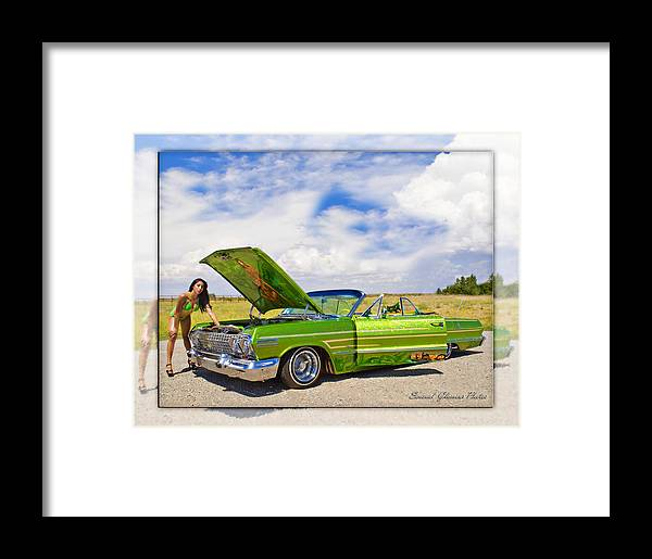 Chevrolet Impala Framed Print featuring the photograph Lowrider by Walter Herrit