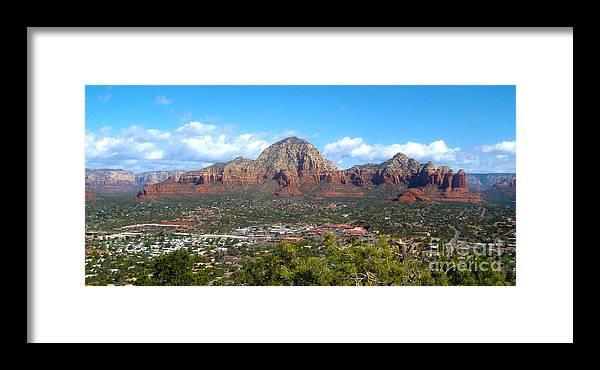 Sedona Arizona Framed Print featuring the photograph Sedona Arizona by Gregory Dyer