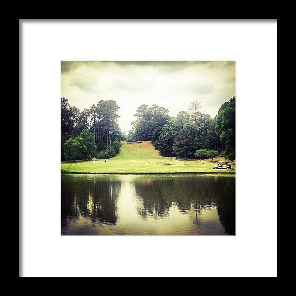 Iphone5 Framed Print featuring the photograph #17 The Bluffs #golf #iphone5 by Scott Pellegrin