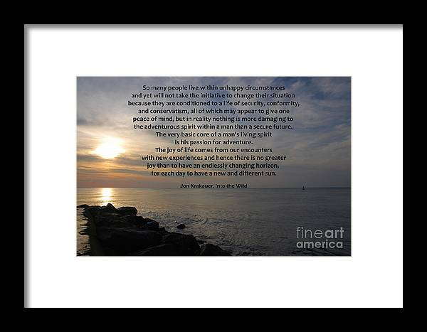 Into The Wild Framed Print featuring the photograph 172- Into The Wild by Joseph Keane
