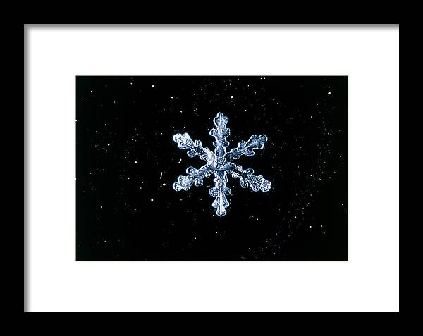 Crystal Framed Print featuring the photograph Snowflake by Perennou Nuridsany