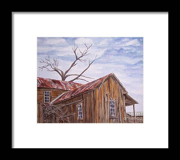 Old House Framed Print featuring the painting 1800's by Regan J Smith