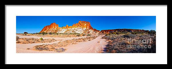 Rainbow Valley Outback Landscape Central Australia Australian Northern Territory Panorama Panoramic Clay Pan Dry Arid Framed Print featuring the photograph Rainbow Valley by Bill Robinson