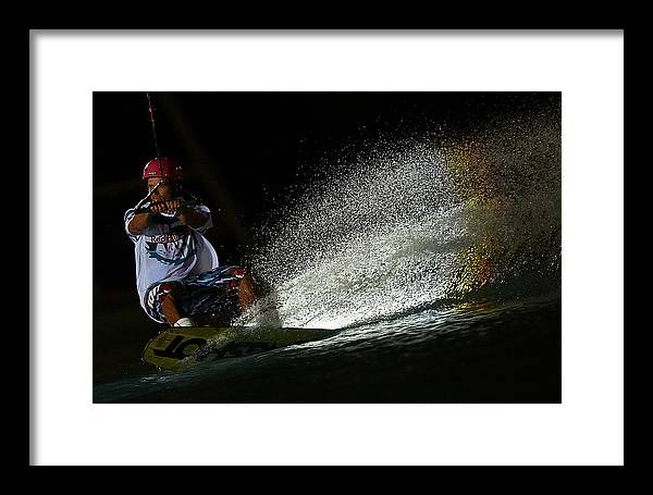 Board Framed Print featuring the photograph Red Bull Art Of Wake by Xaume Olleros
