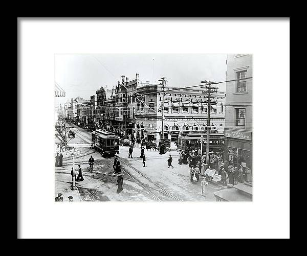 Photography Framed Print featuring the photograph 1900s Intersection Of Fair Oaks by Vintage Images