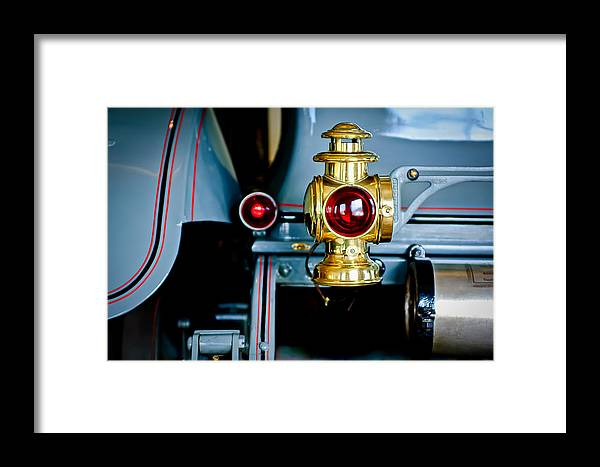 1908 Buick Model S Tourabout Framed Print featuring the photograph 1908 Buick Model S Tourabout Taillight by Jill Reger