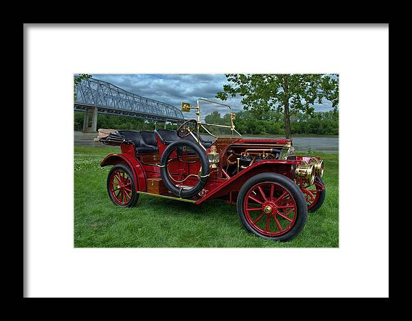 1909 Framed Print featuring the photograph 1909 Washington 5 Passenger Touring by Tim McCullough