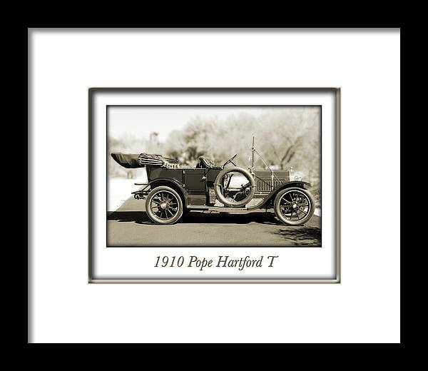 1910 Pope Hartford T Framed Print featuring the photograph 1910 Pope Hartford T by Jill Reger