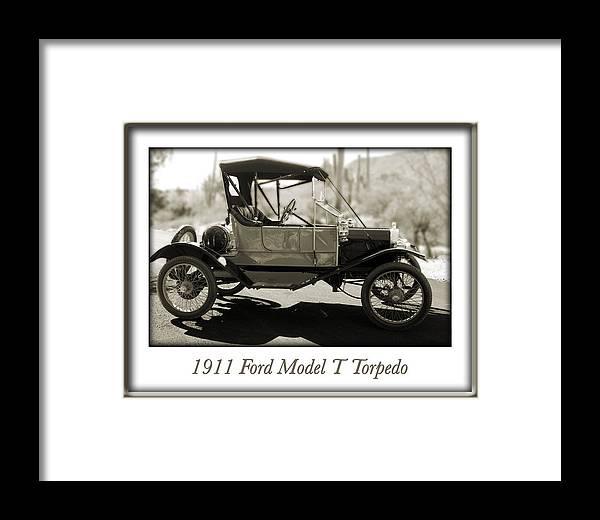 1911 Ford Model T Torpedo Framed Print featuring the photograph 1911 Ford Model T Torpedo by Jill Reger