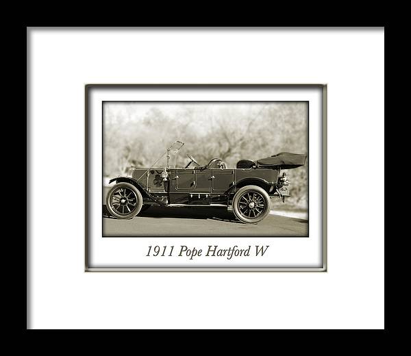 1911 Pope Hartford W Framed Print featuring the photograph 1911 Pope Hartford W by Jill Reger