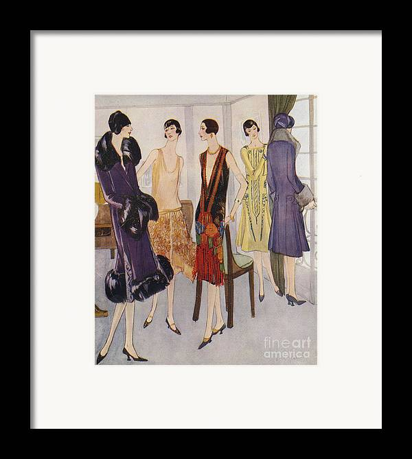 1920�s Framed Print featuring the drawing 1920s Fashion 1925 1920s Uk Womens by The Advertising Archives