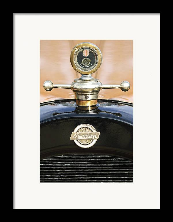 1922 Studebaker Touring Framed Print featuring the photograph 1922 Studebaker Touring Hood Ornament by Jill Reger