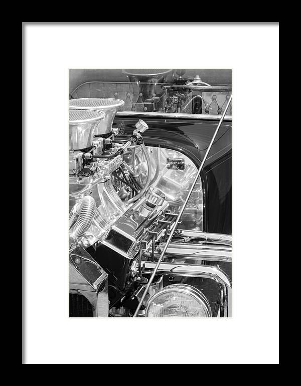1923 Ford T-bucket Engine Framed Print featuring the photograph 1923 Ford T-bucket Engine 2 by Jill Reger