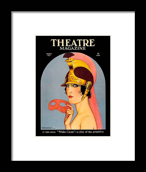 1924 Framed Print featuring the digital art 1924 - Theatre Magazine Cover - Color by John Madison