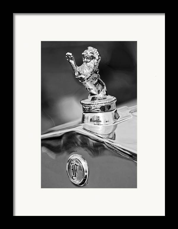 1927 Franklin Framed Print featuring the photograph 1927 Franklin Sedan Hood Ornament 2 by Jill Reger