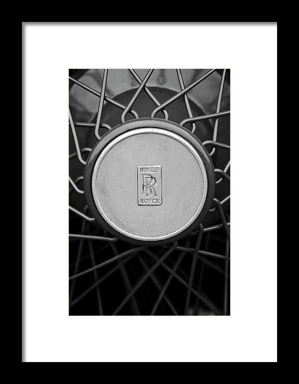 1928 Rolls-royce Framed Print featuring the photograph 1928 Rolls-royce Spoke Wheel by Jill Reger