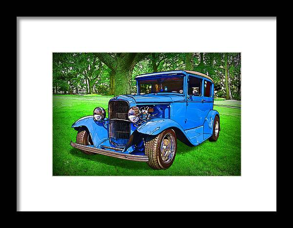 1930 Ford Framed Print featuring the digital art 1930 Ford by Richard Farrington