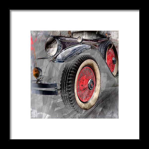 Classic Car Framed Print featuring the digital art 1930 Packard by Richard Farrington