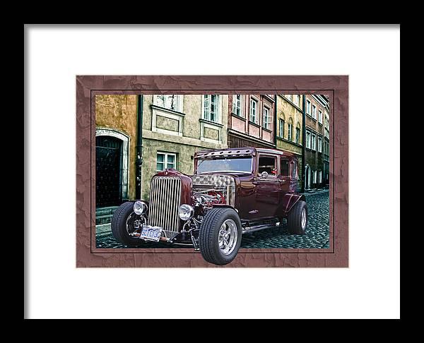 1931 Chev Framed Print featuring the digital art 1931 Chev by Richard Farrington