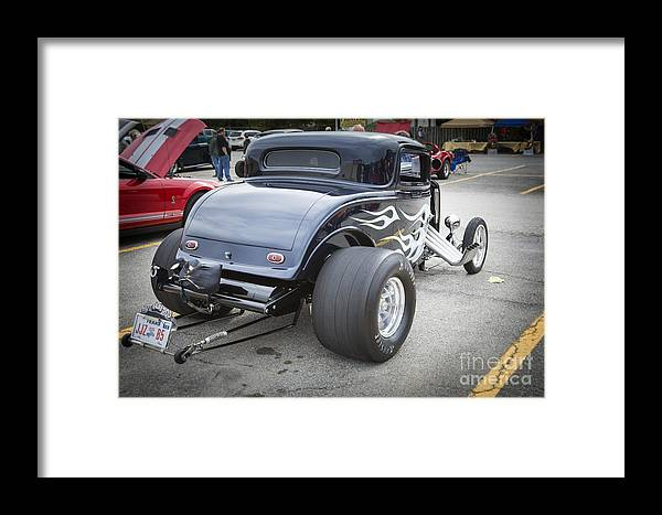 1932 Ford Highboy Framed Print featuring the photograph 1932 Ford Highboy Back View Classic Car Automobile In Color 310 by M K Miller