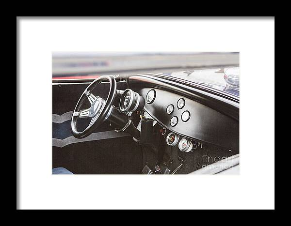 1932 Ford Highboy Framed Print featuring the photograph 1932 Ford Highboy Dashboard Car Automobile In Color 3108.02 by M K Miller