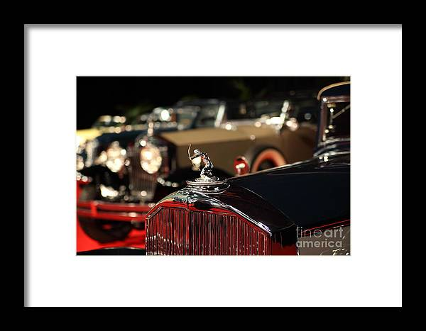 Transportation Framed Print featuring the photograph 1933 Pierce Arrow 12 Convertible Sedan By Lebaron 5d26739 by Wingsdomain Art and Photography