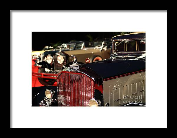 Transportation Framed Print featuring the photograph 1933 Pierce Arrow 12 Convertible Sedan By Lebaron 5d26741 by Wingsdomain Art and Photography