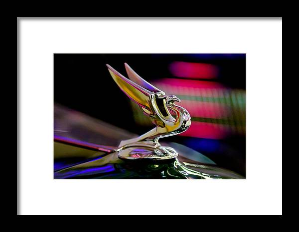 1935 Chevy Hood Ornament Framed Print featuring the photograph 1935 Chevrolet Hood Ornament 2 by Jill Reger