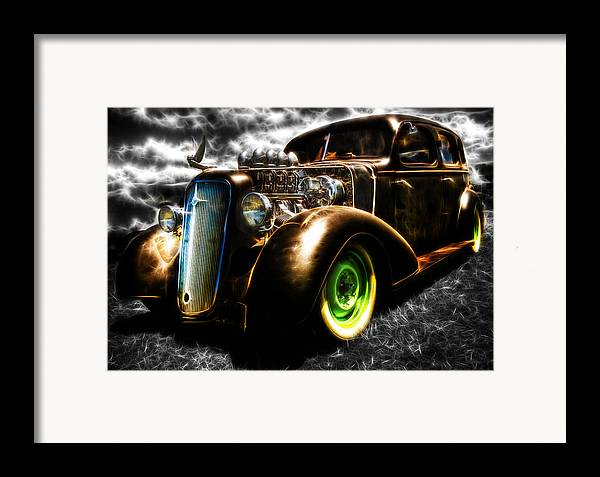 Custom Chevy Framed Print featuring the photograph 1936 Chevrolet Sedan by Phil 'motography' Clark