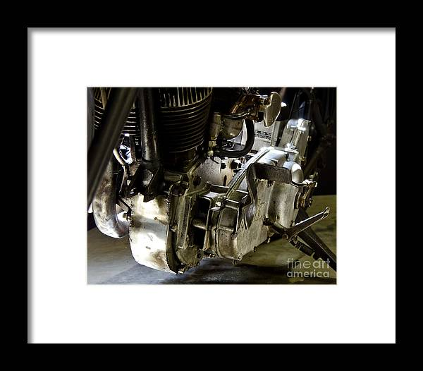 Classic Framed Print featuring the photograph 1936 Indian Flat Tracker Motorcycle by Wilma Birdwell