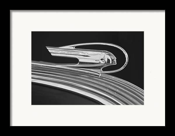 1936 Pontiac Framed Print featuring the photograph 1936 Pontiac Hood Ornament 5 by Jill Reger