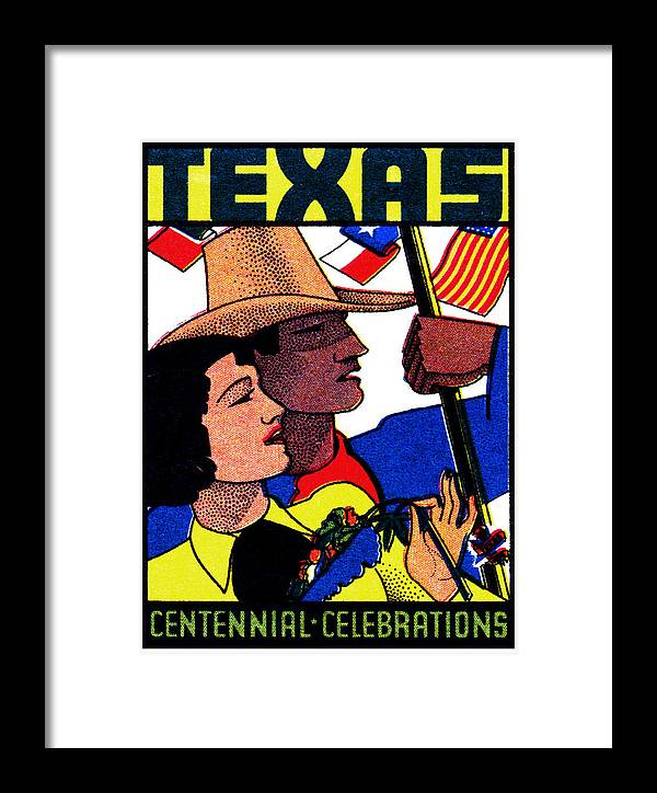 Texas Framed Print featuring the painting 1936 Texas Centennial Poster N.2 by Historic Image